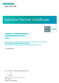 Solution Partner Certificate